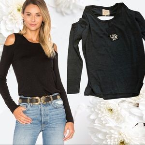 Medium Black Chaser Brighton Cold Shoulder Sweater